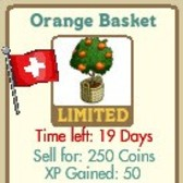 FarmVille Swiss Alps Decorations: Ornate Carriage, Ornate Fountain, Swiss Gate, Swiss Wall & Orange Basket