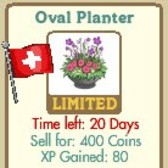 New FarmVille Swiss Themed Decorations: Shaded Picnic, Floral Fence & Oval Planter