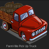 FarmVille drives in the Pick Up Truck Seeder