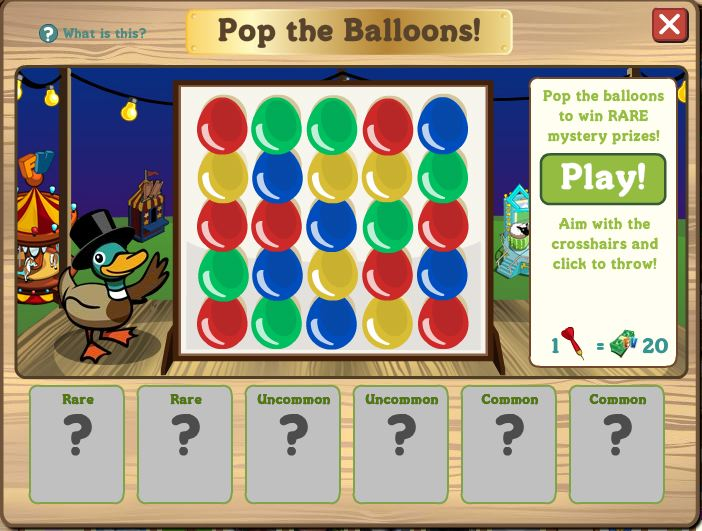 farmville pop the balloon game