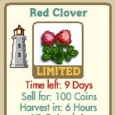 FarmVille Red Clover!