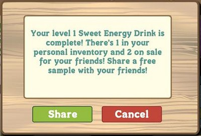 FarmVille Sweet Energy Drink complete