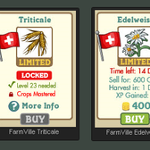 FarmVille Swiss Alps Crops: Triticale &amp; Edelweiss