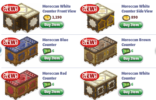 yoville moroccan kitchen items