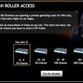 Mafia Wars Vegas VIP access: Casino chip racks + lots of luck = early access