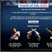 Mafia Wars Fourth of July Sale incentives: Elvis Impersonator and more