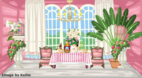 Pet Society Conservatory Tea Room
