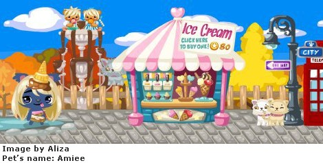 Pet Society Ice-Cream Stand