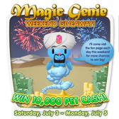 PetVille: Magic Genie free Pet Cash Giveaway links round-up