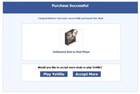 YoVille Mystery Deal Hollywood Reel to Reel Player