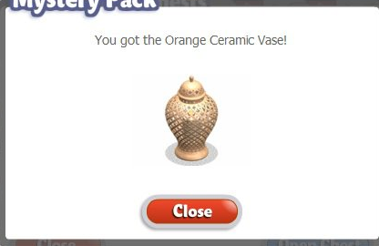YoVille Orange Ceramic Vase