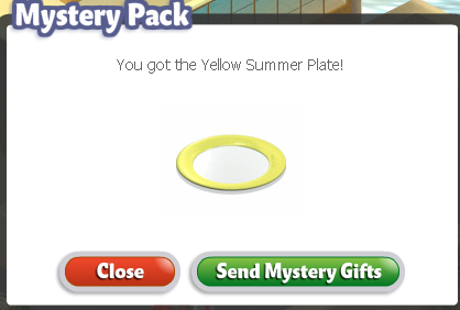 YoVille Yellow Summer Plate
