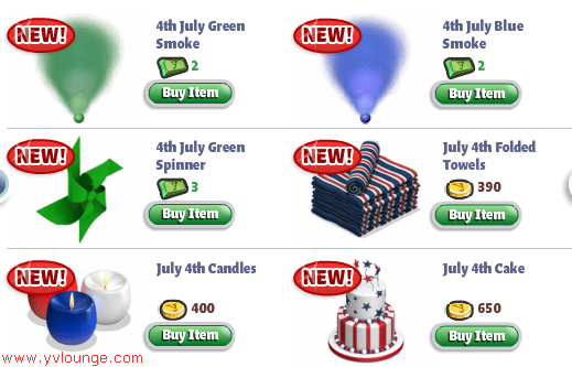 YoVille July 4th items 03