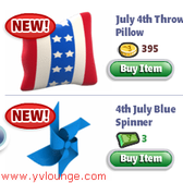 YoVille releases new July 4th items