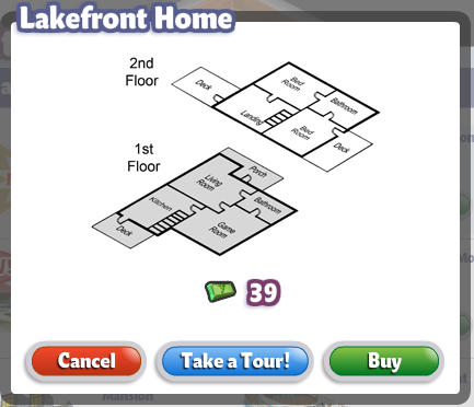 YoVille Lakefront Home Floor Plan