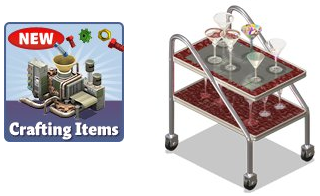 YoVille Crafting Items Widget Factory Tray