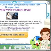 Get Playfish Cash and a deal at Gap with Groupon
