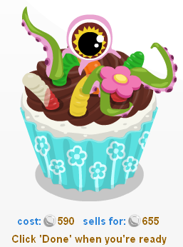 Baking Life Monster Cupcake made with Cupcake Creator