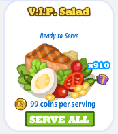Cafe World V.I.P. Salad