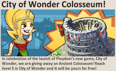 Social City promotes City of Wonder and Ancient Colosseum