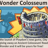 Social City: Reach Level 5 in City of Wonder for a free Ancient Colosseum