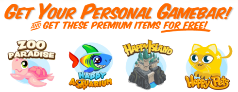 crowdstar gamebar free premium items Happy Island & More Crowdstar Gamebar