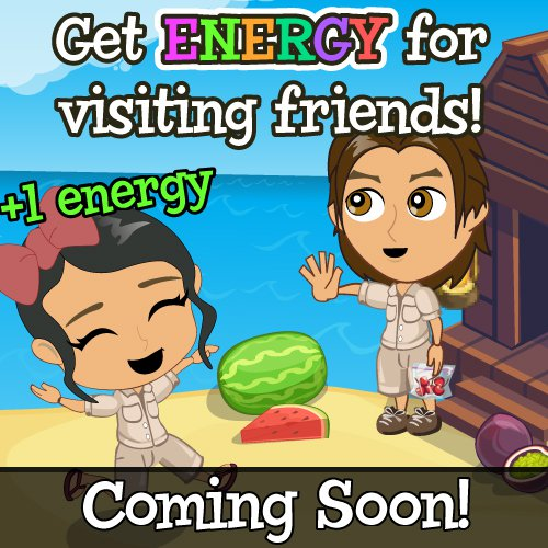 Treasure Isle energy by visiting neighbors