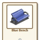 FarmVille.com New Exclusive Gifts: Blue Bench, Cement P