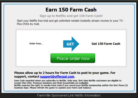 FarmVille 150 Farm Cash Netflix