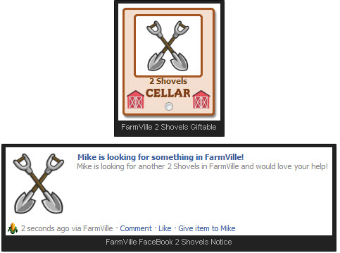 FarmVille Cellar Shovels Gift