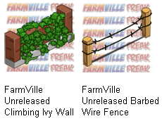 FarmVille Climbing Ivy Wall and Barbed Wire Fence
