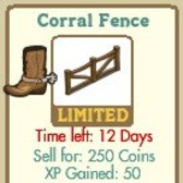 FarmVille LE Wild West Decorations: Cactus Garden, Corral Fence, Corral Gate, Horse Post, & Town Statue