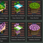 FarmVille Unreleased Hops Crop & Gladiolus Crop Items