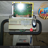 FarmVille freak hooks up computer to treadmill
