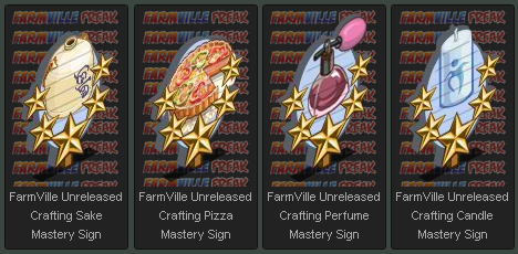 FarmVille Crafting Mastery Signs