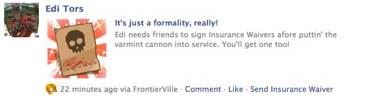 frontierville insurance waiver