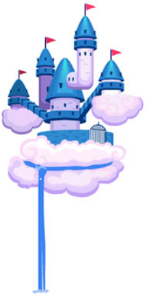 Happy Aquarium Cloud 9 Castle in the Clouds