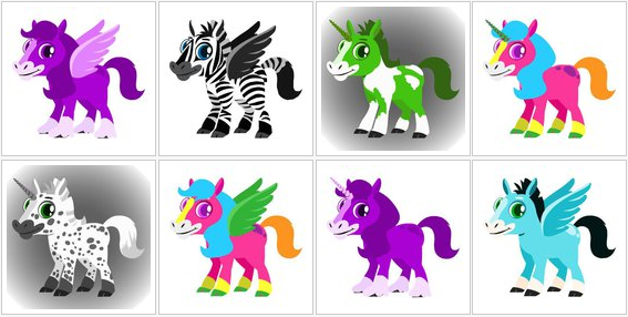 Happy Pets Horses, Unicorn, and Pegasus
