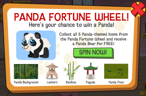 Happy Pets Panda Fortune Wheel