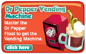 Restaurant City Dr Pepper Vending Machine