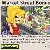 Social City: Free shopping district when you reach Level 5 in Market Street