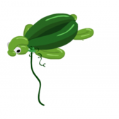 Start rallying to get the free YoVille Turtle Balloon