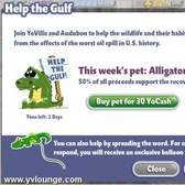 YoVille Alligator is here and YoVille Lounge is giving one away