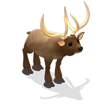 YoVille Animated Elk