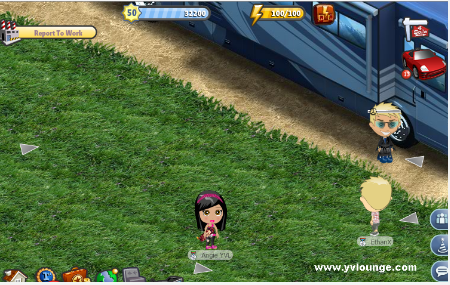 YoVille Campground Front Yard