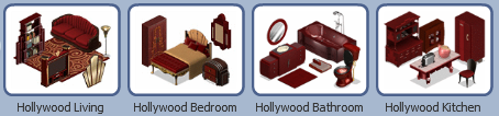 YoVille Classic Hollywood theme furniture