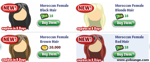 YoVille Female Moroccan Hair
