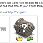 YoVille: Silver Chests and Silver Keys return as limited free gifts