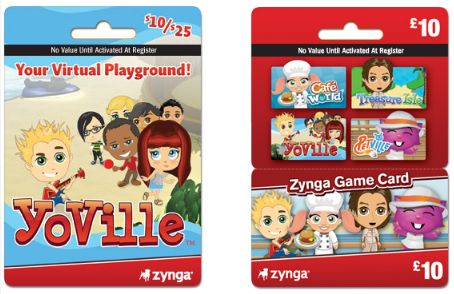 YoVille Zynga Game Cards