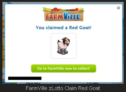FarmVille zLotto Claim Red Goat